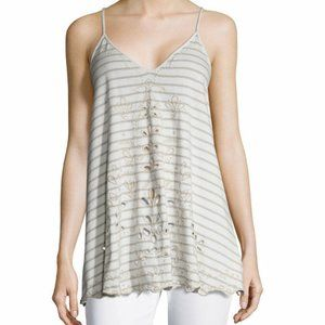 FREE PEOPLE Seafaring Striped Tank in Ivory - XS,S